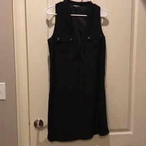 Express Black A line dress.